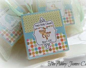 Baby Shower Favors, Safari , Baby Shower Soap Favors, Monkey Baby Shower