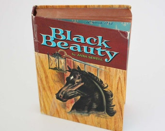 Black Beauty by Anna Sewell - Vintage Children's Book c. 1955