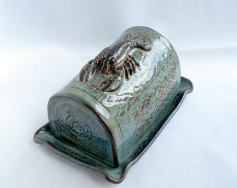 Butter dish Lobster trap with lobster Made to order