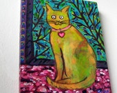 Original Cat Painting - Cat Art - Chat de Matisse (Matisse's Cat)