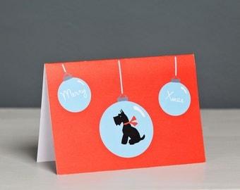 Scottish Terrier Christmas Card - Dog Christmas Card  - Terrier Card - Scottie - Scotty