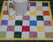 Scrappy Checkerboard Style  Table Topper or Candle Mat