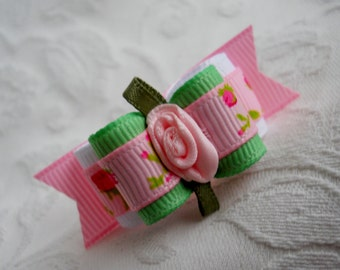 """5/8"""" Dog Bow- Spring Has Sprung Double Loop Dog Bow"""