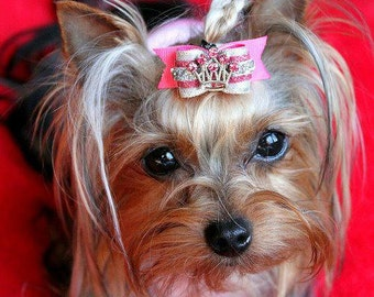 Dog Bow- 5/8 Princess LiLi Dog Bow