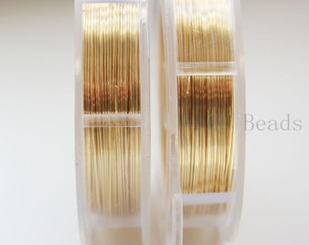 Artistic Wire 24 Gauge Silver Plated Lead/Nickel Safe - Gold Color 15 Yard