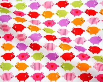 Japanese fabric pig print fat quarter (HAKO13A)