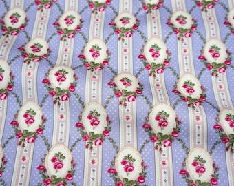 Roses print Japanese fabric  half yard