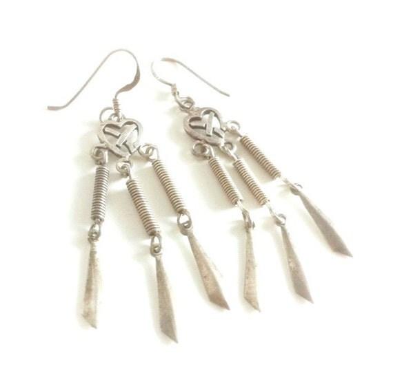 Sterling Silver Celtic Heart Earrings
