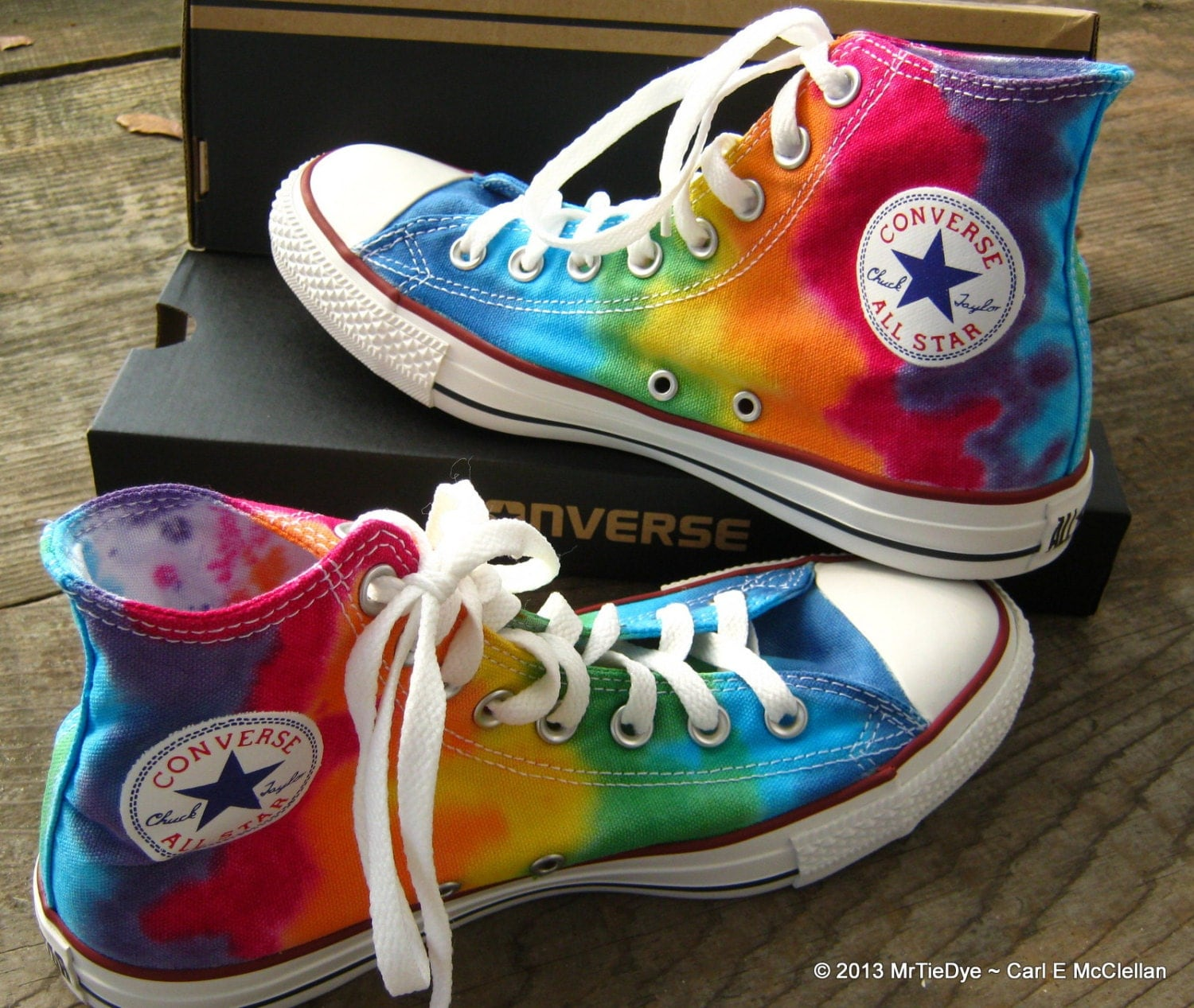 Rainbow Tie Dye Converse Shoes