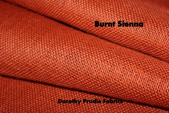 Burlap burnt sienna colored shalimar by dorothyprudiefabrics for Colored burlap fabric