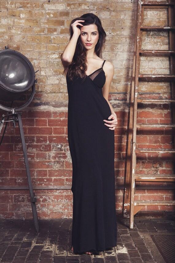 On Sale Black Lingerie Maxi Slip Nightie Lace By Luvahuva