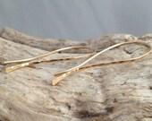 Gold Filled Hammered Stick Earrings. Modern. Simple. Sleek (E039GF) wire jewelry by cristysjewelry on etsy