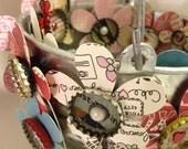 Mini Handmade Bottlecap Flower Magnets