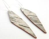 Eco friendly birch bark earrings, Tine
