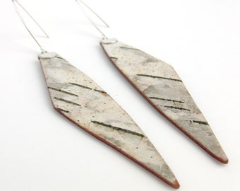 Eco friendly birch bark earrings, Tine