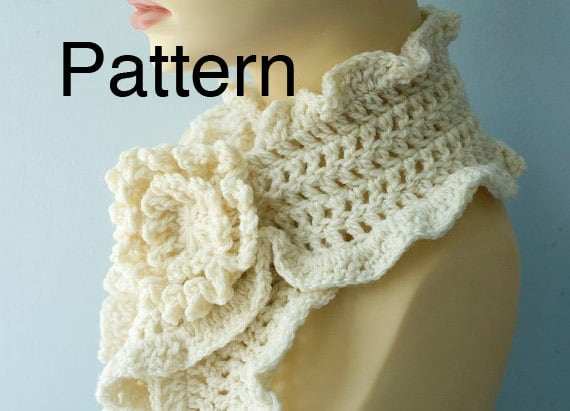 Snap Crochet Pattern African Flower Scarf By Joscrocheteria Etsy