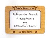Boxer Dog Magnet Picture Frame