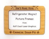 Chinese Shar Pei Dog Magnet Picture Frame