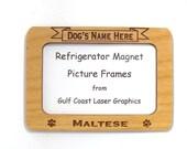 Maltese Dog Magnet Picture Frame