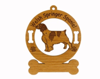 4206 Welsh Springer Spaniel Personalized Dog Ornament