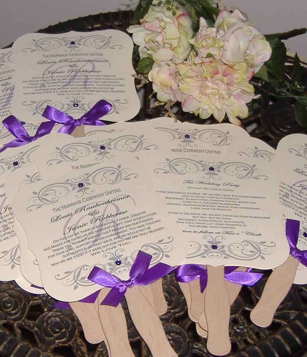 Wedding Fans Wedding Fan Program Wedding Program Fan Die