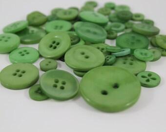 50 Garden Green Buttons