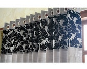 RESERVED for lspadafino1 - 3 Curtain Panels and 1 Valance