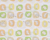Heather Ross Crafty Chloe's Bert the Dog on White Cotton Fabric - 1/2 Yard