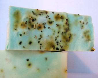 SOAP- Vanilla Mint Soap - Handmade Soap with real mint- Soap Gift