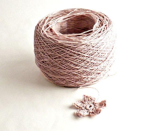 Crochet Thread 3 Ply Linen Thread Dusty Rose Linen Yarn Natural Fiber Tatting Thread Specialty Thread
