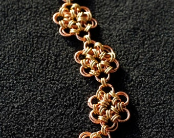 Copper 12 in 2 chainmaille bracelet