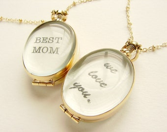 We love you necklace, Personalized jewelry, Mothers day gift, Personalized gift, best mom heirloom locket necklace