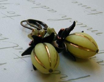 Fruit from Heaven - Vintage Style Dangling Earrings