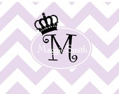 Custom personalized  princess crown chevron notecards thank you notes children notecards bridal notes wedding baby shower