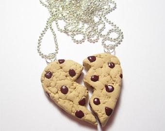 Chocolate Chip Best Friend Cookie  Necklace Set