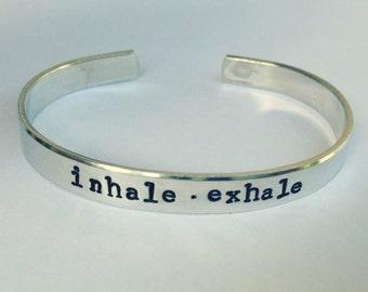 Inhale Exhale- Cuff Bracelet