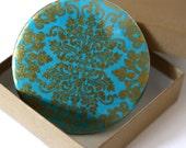 Maharaja Turquoise - 3.5 Inch Pocket Mirror