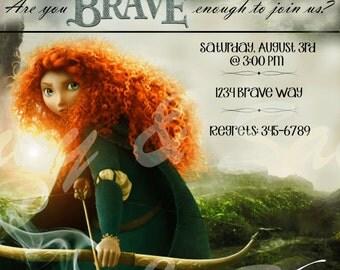 Brave Birthday Invitation