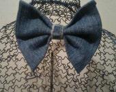 Blue Jean Bow Tie