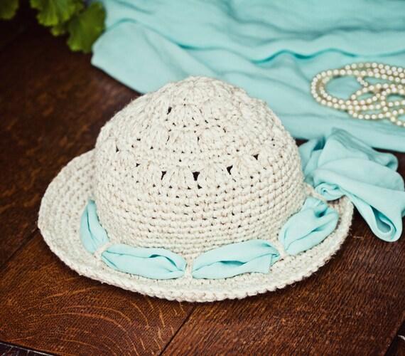 Crochet PATTERN - Linen Sun Hat (baby to adult)
