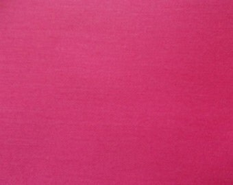"60"" Wide Hot Pink Multipurpose Polyester Cotton Twill Fabric By the Yard"