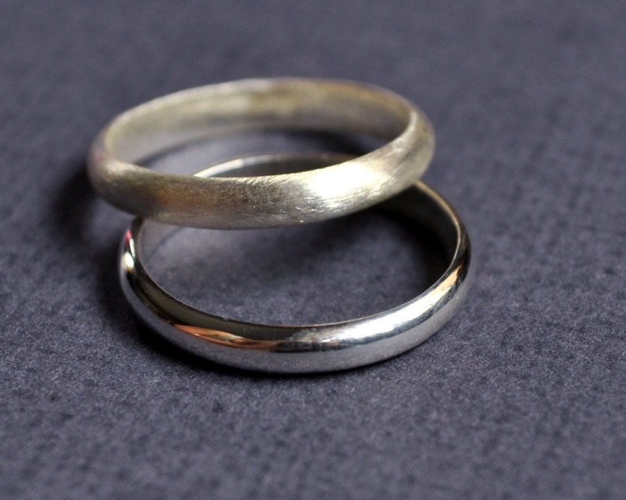 Hers And Hers Wedding Band Set Wedding Rings Marriage