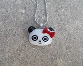 Girl Panda Face Necklace