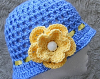 Hat Crochet Pattern - Sweet Pea Cloche Hat - Ladies Medium - Super Quick - Great for Selling or Gift Giving