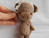 Artist bear little pig   by Sylvie Touzard MADE TO ORDER