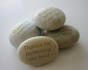 Custom Engraved Stone Message Personalized Weddings Retirement Memorial