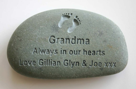 Custom Engraved Memorial Stone Personalized Rock Grave Marker