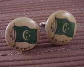 CLOSEOUT Cuff Links Vintage Egypt Flag - Free Shipping to USA