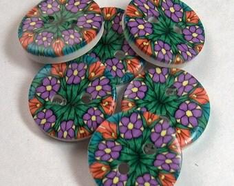 Purple Millifilori Floral Button No. 4