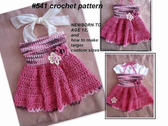 Crochet Dress Pattern For Kids Crochet Pattern Baby Dress